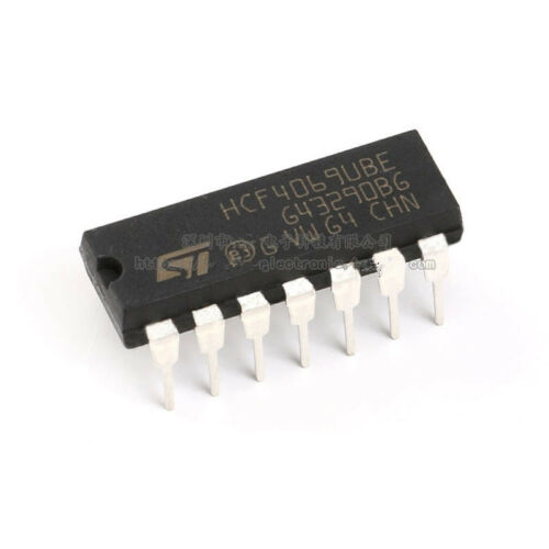 10pcs Original HCF4069UBE DIP14 logic chip CMOS six non-door 15V