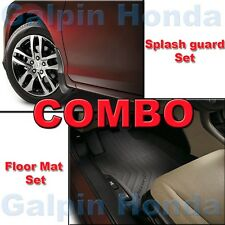 Genuine OEM Honda Accord 4-DOOR All Season Floor Mat Set & Splash Guards
