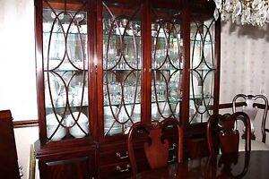 THOMASVILLE MAHOGAHY-Dining Table/8 Chairs/China Cabinet/Sideboard ...