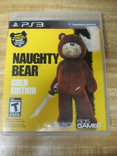 Naughty Bear: Gold Edition  (Sony Playstation 3, 2011) Complete