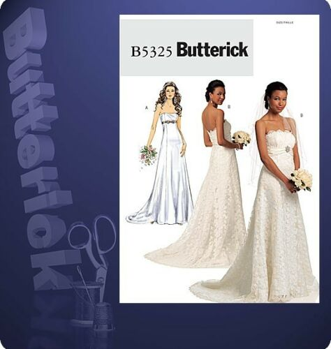 Butterick 5325 Misses Wedding Gown Pattern