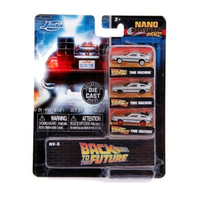 JADA 31583 NANO BACK TO THE FUTURE 3 car set DeLorean models I II & III