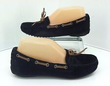 Sam Edelman Moccasin Loafers Fletcher Black Suede Flats Driving Mocs, Size 6 M