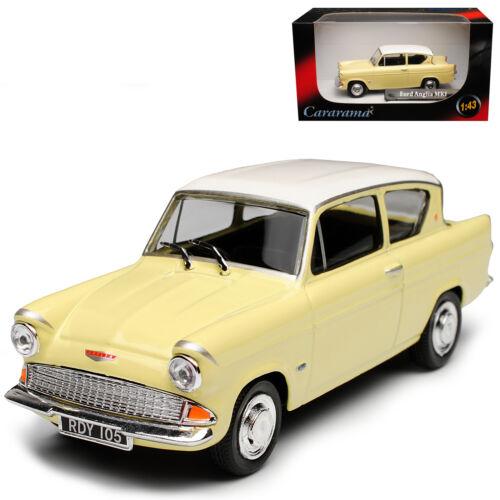 Crema de MKI Coupe Ford Anglia 105E beige con blanco techo 1//43 Cararama modelo A..