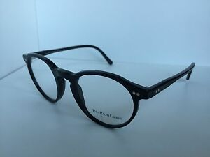 79421bfb0e8 New Polo Ralph Lauren Polo 2083 5001 46mm Round Rx Black Eyeglasses ...