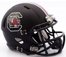 SOUTH CAROLINA GAMECOCKS Matte Black NCAA Revolution Speed Mini Football Helmet