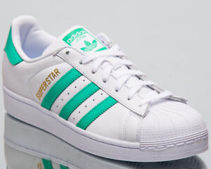 huge selection of 00179 03e99 Image is loading adidas-Originals-Superstar-Men-Sneakers-White-Green-2018-