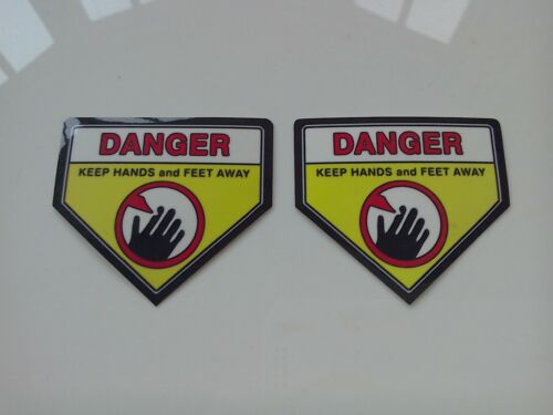 Lawn Mower Blade Warning Safety stickers 2 x Sticker for twin Blades