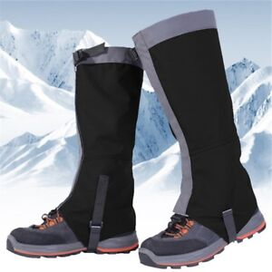Waterproof-Mountain-Hiking-Hunting-Boot-Gaiters-Snow-Snake-High-Leg-Shoes-Cover