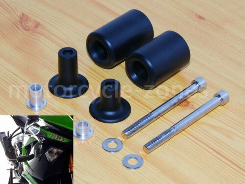 Black Frame Sliders No Cut Version For Kawasaki 2013-2014 Ninja ZX 6R ZX6-R 636