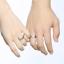 Fedine-Fidanzamento-Anelli-Anello-Fede-Acciaio-Inox-Argento-Solitario-Fascia-Lov miniatura 6