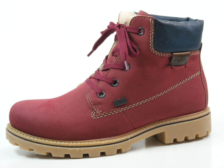 Rieker z1420-36 zapatos señora botines botas cálidas forro