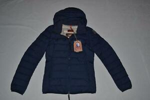 Image is loading AUTHENTIC-PARAJUMPERS-JULIET-WOMENS-PUFFER-JACKET -DARK-INDIGO-