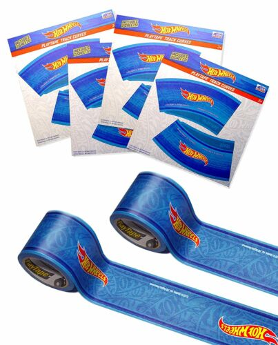 "Hot Wheels PlayTape 2 Pack Blue 30/'x1.75/"" Road Car Tape Great for Kids Blue"