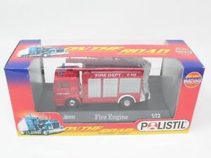 1-72-POLISTIL-No-90221-ON-THE-ROAD-MAN-FIRE-ENGINE-FONDO-MAGAZZINO-QN3-026