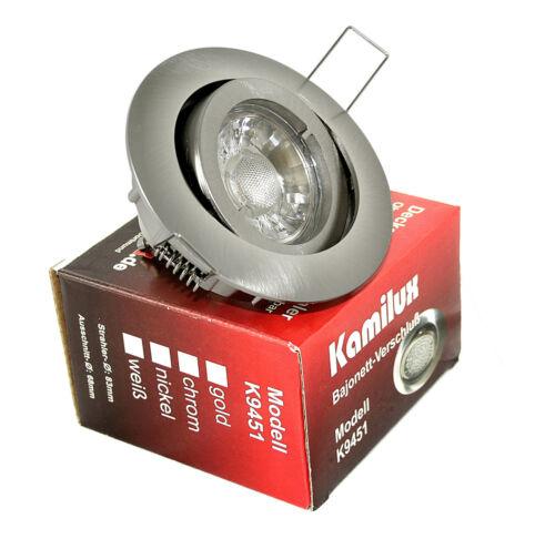 Kamilux /& 7W GU10 LED-Strahler 6er Set rostfreie Vordach Deckenstrahler Bajo v