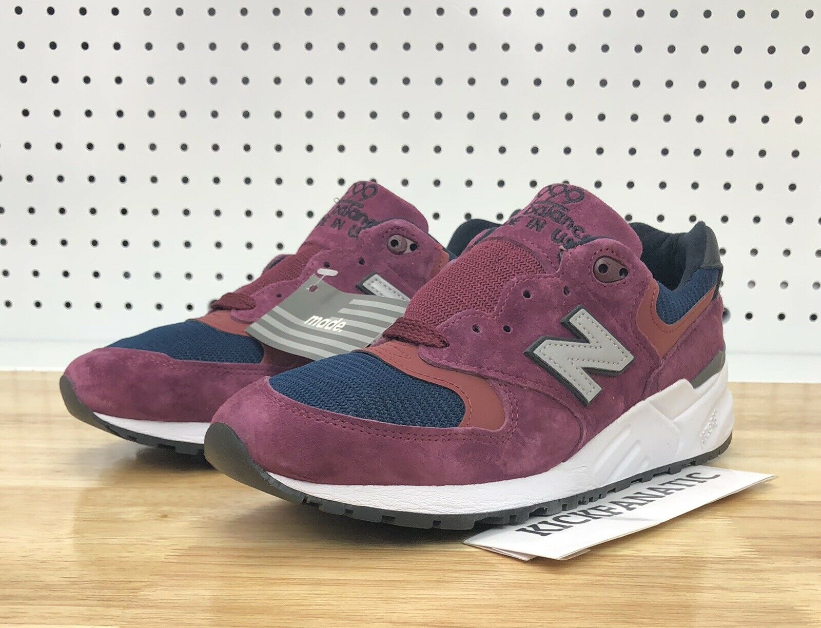finest selection 8f6f0 12ae5 New Balance M999JTA Maroon Navy Made In USA Men s Size 7.5 Running shoes