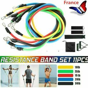 Bandes-de-Resistance-Set-Fitness-Elastiques-Musculation-Exercice-Bande-Kit-avec