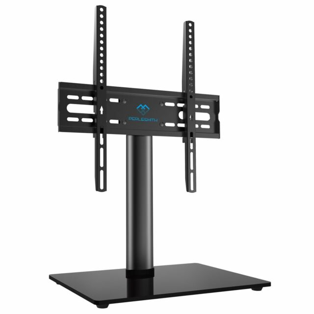 Perlesmith Universal Tv Stand Table Top For 23 49 Lcd Led Tvs Vesa