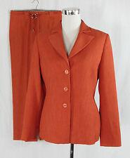 BIBA Hosenanzug Anzug Kombination Damenanzug Blazer+Hose koralle rot Gr. 36-38