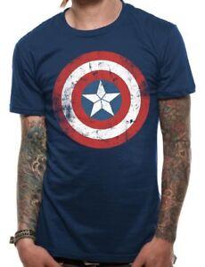 Official-Captain-America-Shield-T-Shirt-Marvel-Distressed-Unisex-S-M-L-XL-XXL