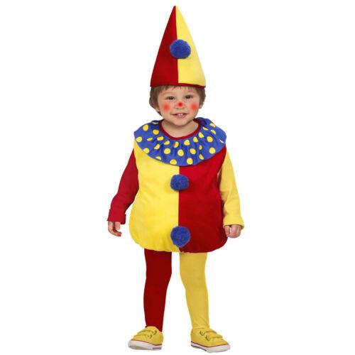 Baby Clownkostüm Kinder Clown Harlekin Kostüm Clownskostüm 90-104 cm 1-3 Jahre