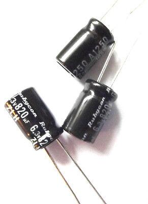 25pcs 6.3V820UF Panasonic FJ 8X11.5 105C 820UF 6.3V Motherboard Cap LOW ESR