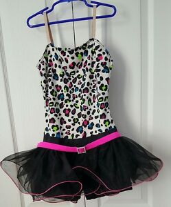 Weissman Dance Outfit Sequins Leotard Tulle Skirt Dance Costume Black LC Large