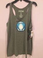 Ironman Civilwar Triblend Gray Tank Woman Xl Shirt Top Blouse