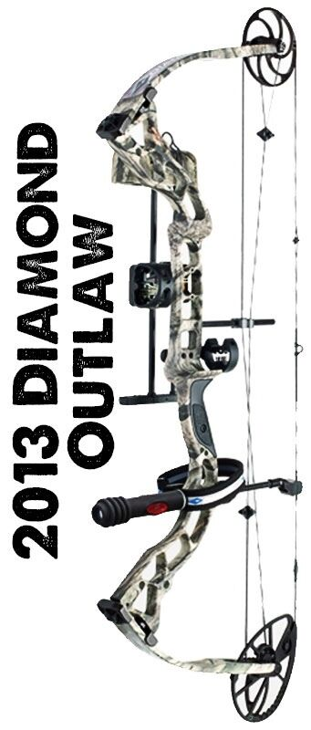 Diamond Archer Outlaw Bow 70lb Camo color (Message for pictures)