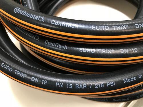 "Water Hose Euro Trix 3//4 /"" 19mm Contitech Eurotrix Rubber Garden Hose"