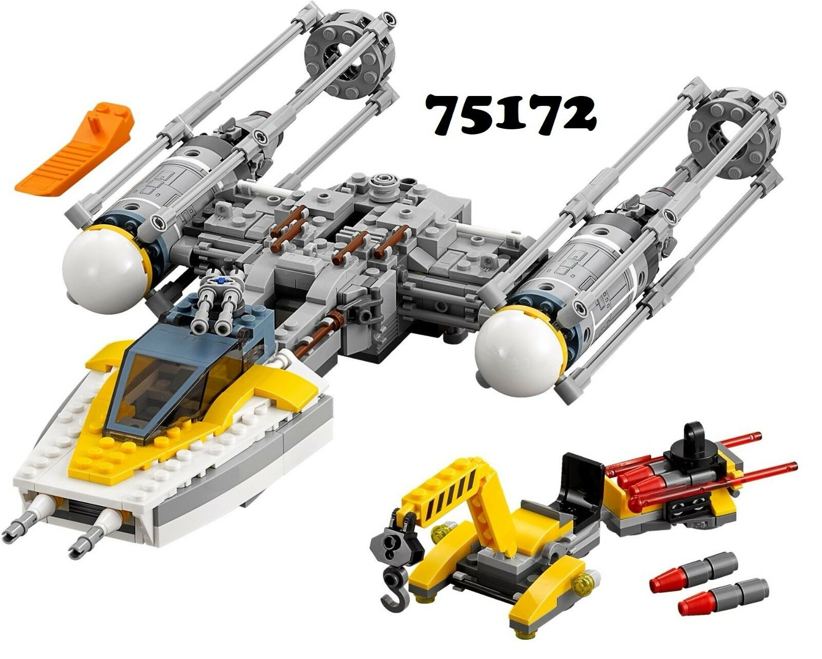 NEW Lego Star Star Star Wars 75172 Y-Wing Starfighter with ALT BUILD NO MINIFIGS bc6b84
