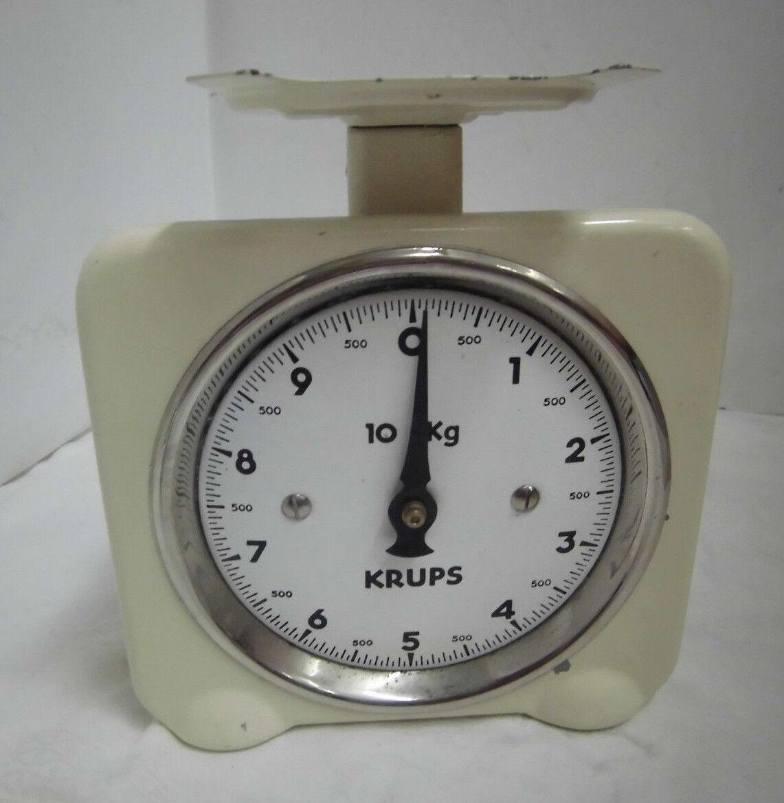 40er 50er Balance de cuisine Balance Krupps EMAILLE jusqu'à 10 kg vintage 40 s 50 s