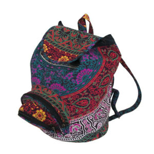 New-Unisex-Backpack-Bag-Indian-Cotton-Hippie-Indian-Multi-Men-Women-Fashion-Bags
