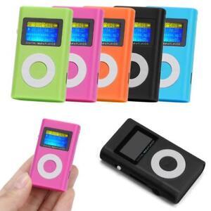 MP3-Player-Mini-LCD-Display-Musik-Micro-SD-bis-32GB-Zubehoerpaket-pink