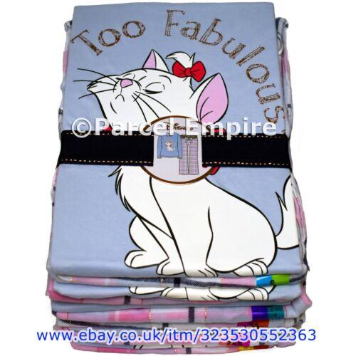 """Official MARIE Aristocats PJ Set /""""Too Fabulous/"""" PYJAMA Top Bottoms Pajamas Cat"""