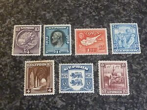 CYPRUS-POSTAGE-STAMPS-SG123-129-1928-LIGHTLY-MOUNTED-MINT
