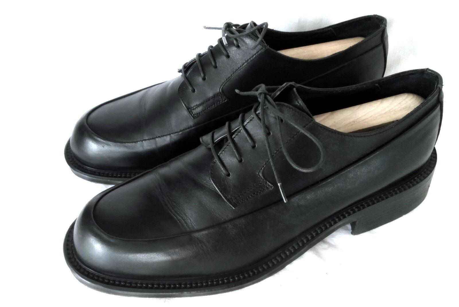 Alberto Monti Apron Toe Derby Affaires Chaussures Hommes Noir Cuir Taille 44