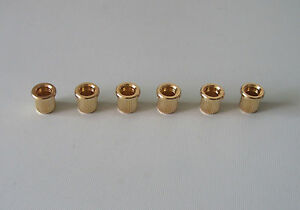 """String Ferrules 6 For Guitar NEW 5//16/"""" GOLD"""