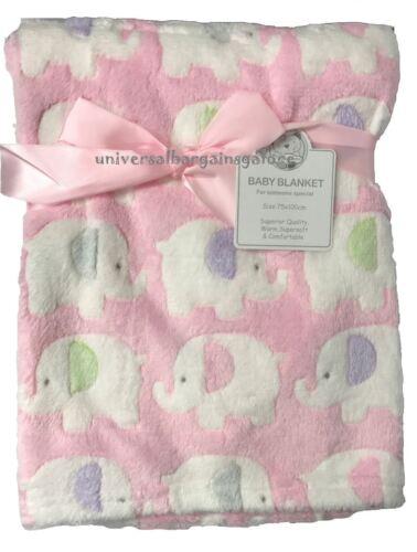 Month Soft /& Luxurious Baby Blanket Pram Crib Moses Basket Boy Girl Unisex 0