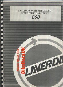 Laverda-668-Twin-1996-1998-Genuine-Parts-List-Book-Catalogue-Manual-BY75