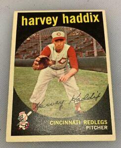 1959-Topps-184-Harvey-Haddix-Baseball-Card-Cincinnati-Redlegs-Reds-Red-Legs