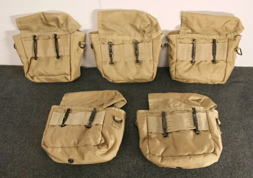 5 ARMY TYPE 2QT DESERT CANTEEN COVERS //STRAPS CLIPS NEW