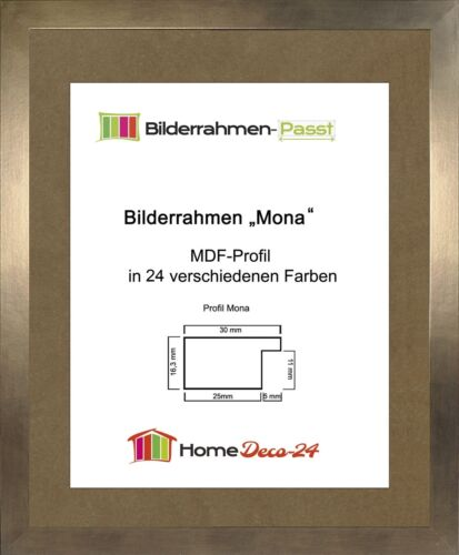 Mona 44 x 84 cm Bilderrahmen Homedeco 24 Holzwerkstoff Wahl Farbe Verglasung