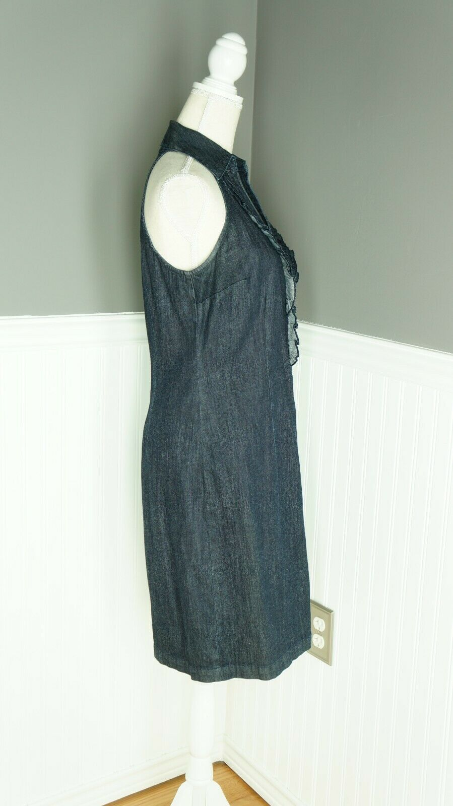 INC International Concepts Denim Midi Dress Dark … - image 2