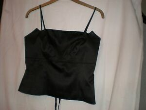 Uk 14 S0uth Black Basque Lace Up Back Removable Straps Worn Once Great Item Fine Quality Corsets & Bustiers Intimates & Sleep