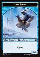 7X 2/2 Flying Blue Djinn Monk TOKEN LP (2/8) Dragons of Tarkir MTG Magic Card