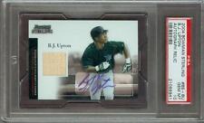 2004 Bowman Sterling Autograph BJ Upton PSA 10 Devil Rays Rookie Game Bat POP 1