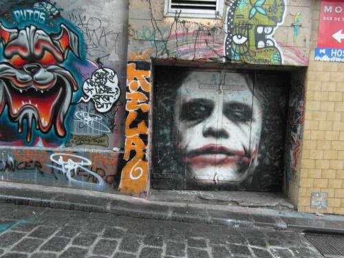 """Hosier Lane street art  gothic joker batman poster print for glass frame 36/""""x24/"""""""