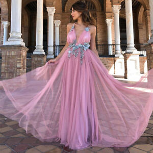 Women-039-s-Lace-Long-Wedding-Evening-Ball-Dress-Gown-Party-Prom-Bridesmaid-Dress